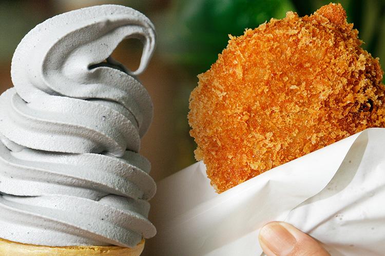 小昼飯本舗:黒ゴマソフト&秩父コロッ